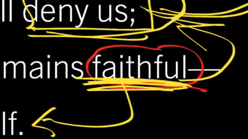 If We Are Faithless, He Remains Faithful?